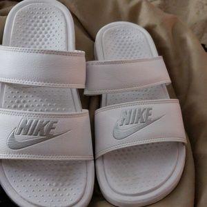 White Womens Nike Slides